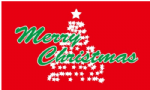 Merry Christmas Tree Large Christmas Flag - 5' x 3'.